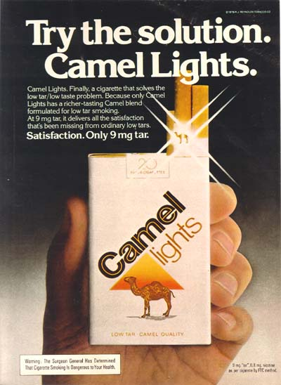 Camel cigarette ads