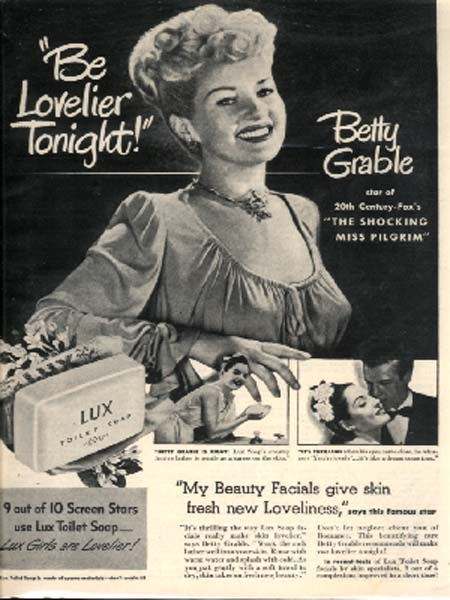 $8.50, View Betty Grable / Lux Soap