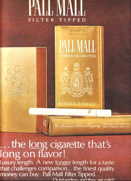 Geliefde Pall Mall cigarette ads YV-29