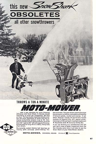Snow Blower Ads