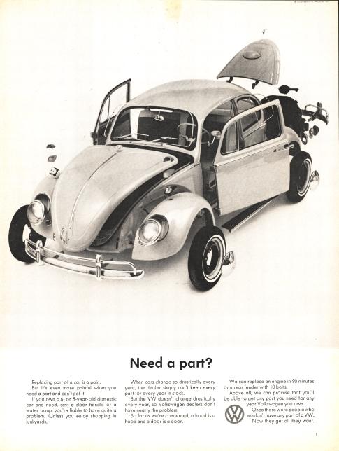 1964 Vw Bug >> VW Bug ads